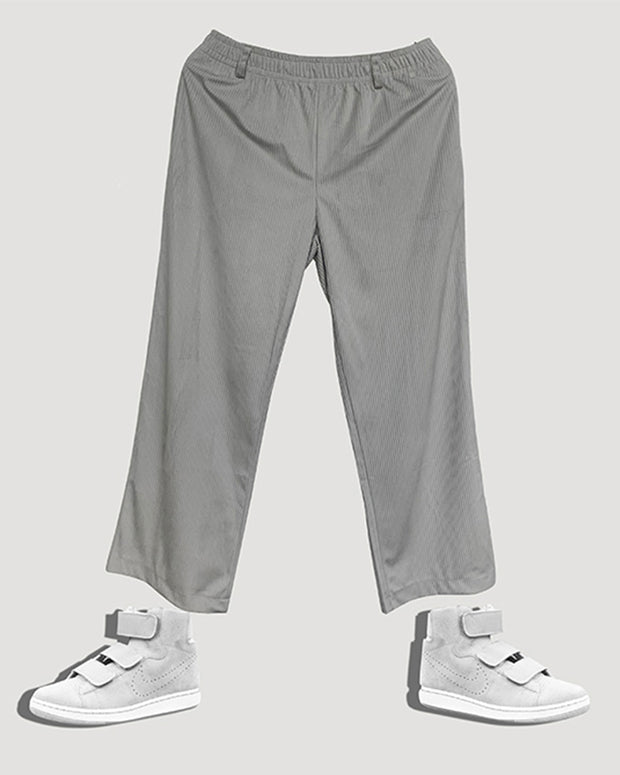 Solid Pleated Loose Casual Pants