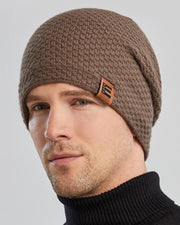 Solid Color Attached Label Knitted Hats