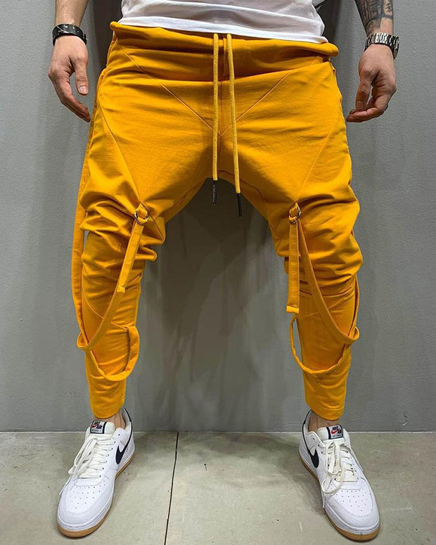 Casual Solid Sporty Harem Pants