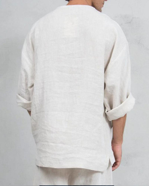 Solid Notch Neck T-Shirt