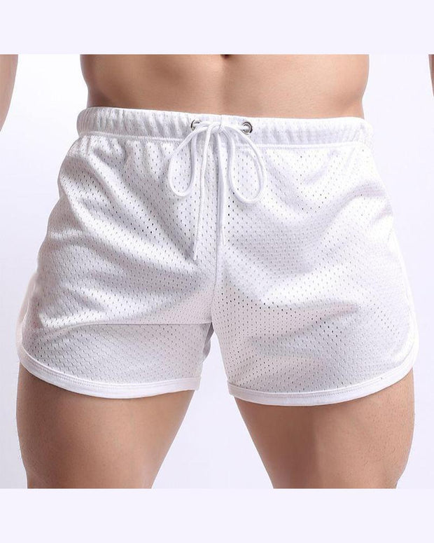Casual Perforated Shorts