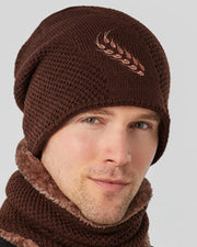 Solid Color Wheat Ears Embroidery Knitted Hats