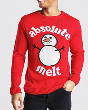 Christmas Letter&Snowman Jacquard Long Sleeve Sweater