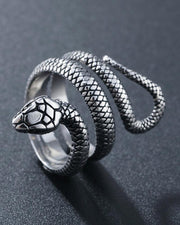 Snake Carving Titanium steel Ring