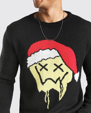Christmas Cartoon Jacquard Long Sleeve Sweater