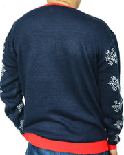Christmas Cartton Jacquard Long Sleeve Knitted Sweater