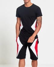 Sports Short Sleeve T-shirt & Pants Set