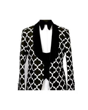 Patterns Printing Long Sleeve Single-breasted Blazer