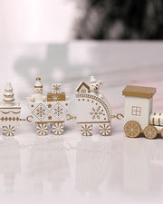 Mini Four-section Train Christmas Decorations