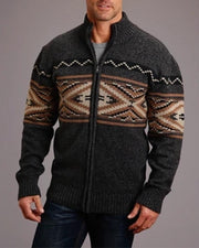Retro Patterns Long Sleeve Zip-up Jackets