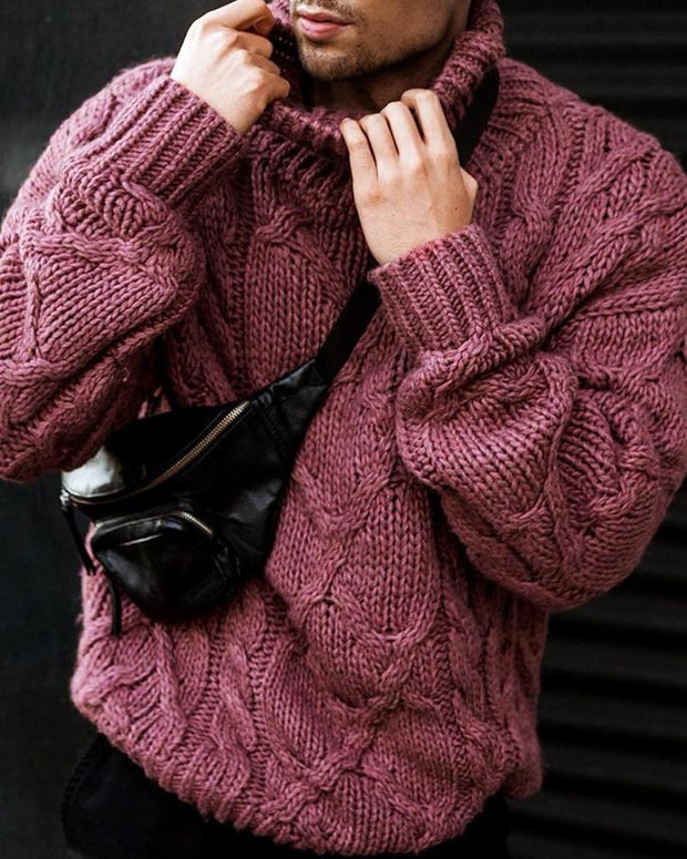 Solid Long Sleeve knitted Loose Sweaters