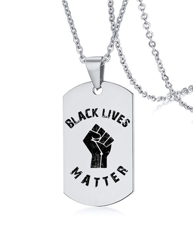 Black Lives Matter Stainless Steel Pendant Necklace