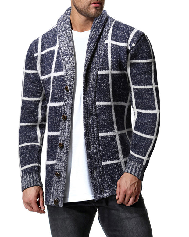 Big Plaid Long Sleeve Button-up Coats