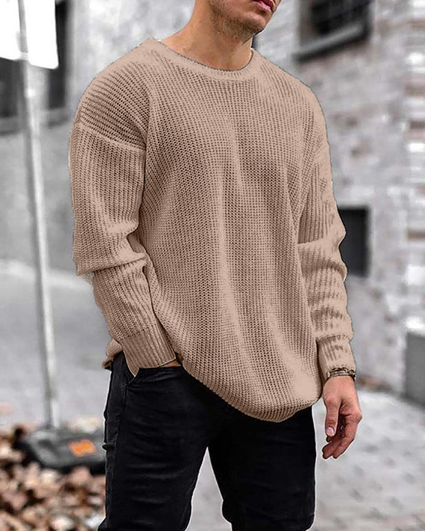 Solid Long Sleeve Loose Sweaters