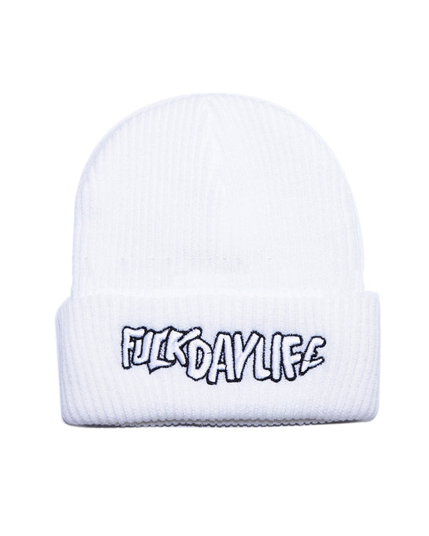 Hip-hop Solid Color Splicing Letter Embroidery Knitted Hat