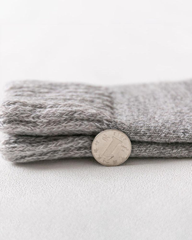 Winter Solid Color Thick Socks