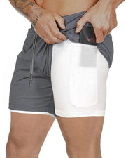 Contrast Color Gym Shorts