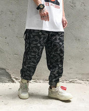 Print Loose Hip-hop Denim Pants