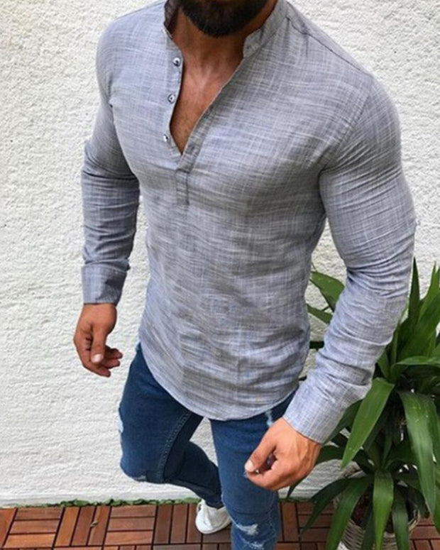 Solid Slim Fit Button Shirt