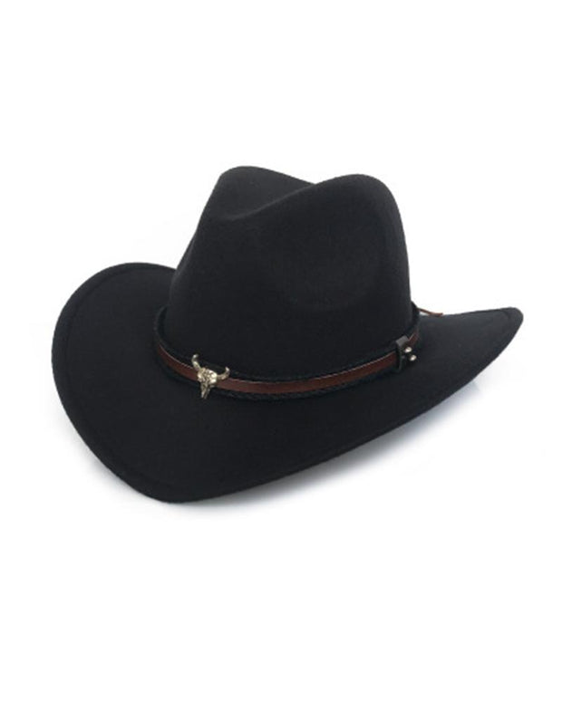 Mental Cow Logo Solid Color Western Cowboy Hat