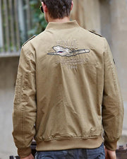 Logo Embroidery Long Sleeve Jackets