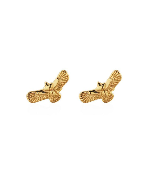 Retro Indian Style Flying Eagle Stud Earrings
