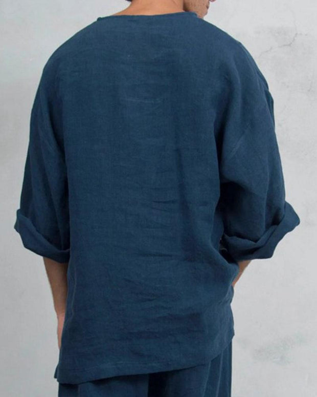 Notch Neck Casual Shirt