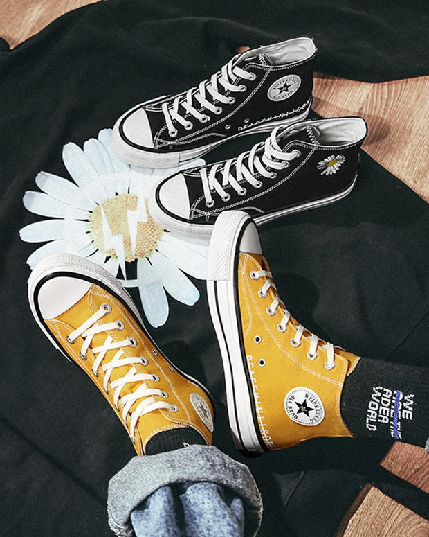 Daisy Embroidery Lace-up High Top Sneakers