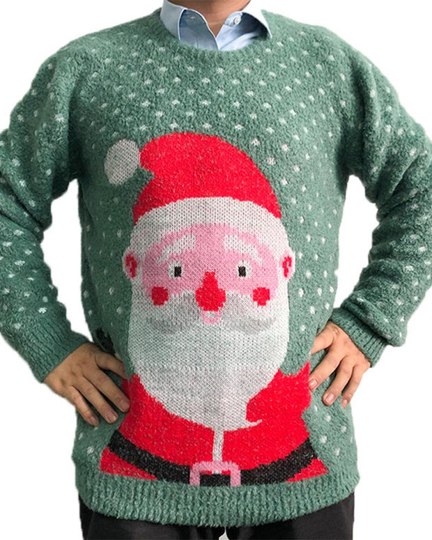 Christmas Santa Patterns Long Sleeve Sweater