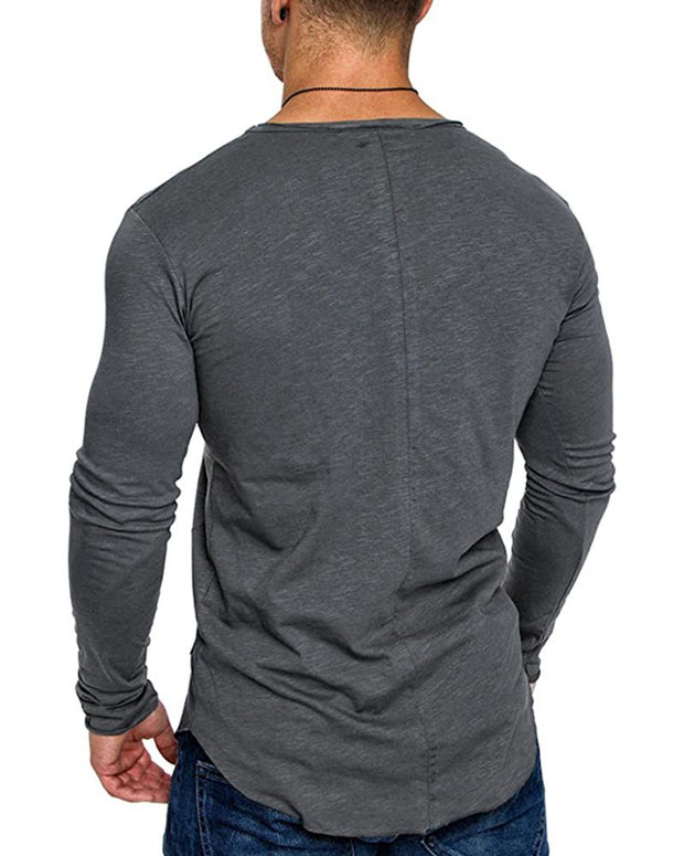Solid Long Sleeve Fitting T-shirts