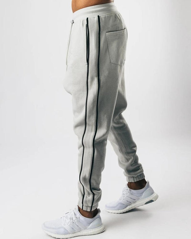 Color Border Loose Drawstring Sporty Pants