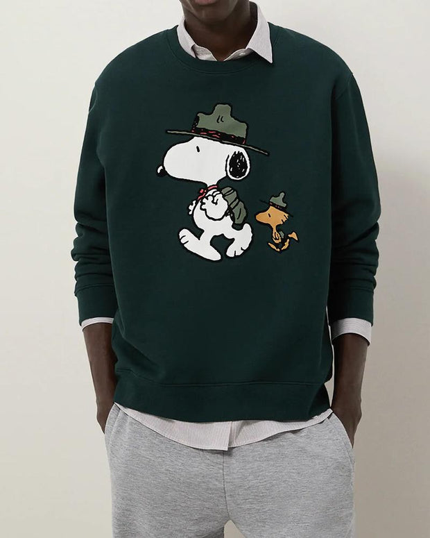 Snoopy Print Long Sleeve Loose T-shirts