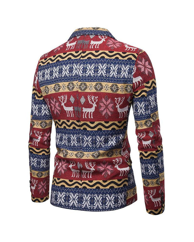 Christmas Patterns Long Sleeve Coats