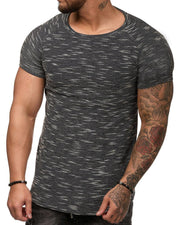 Casual Solid Color Round Neck T-shirt