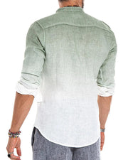 Gradient Long Sleeve Loose Shirts