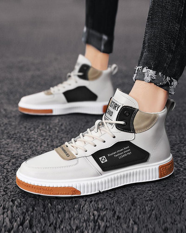 Colorblock Lace-up Flat Breathable Sneaker