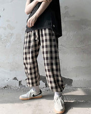 Plaid Loose Hip-hop Latern Pants