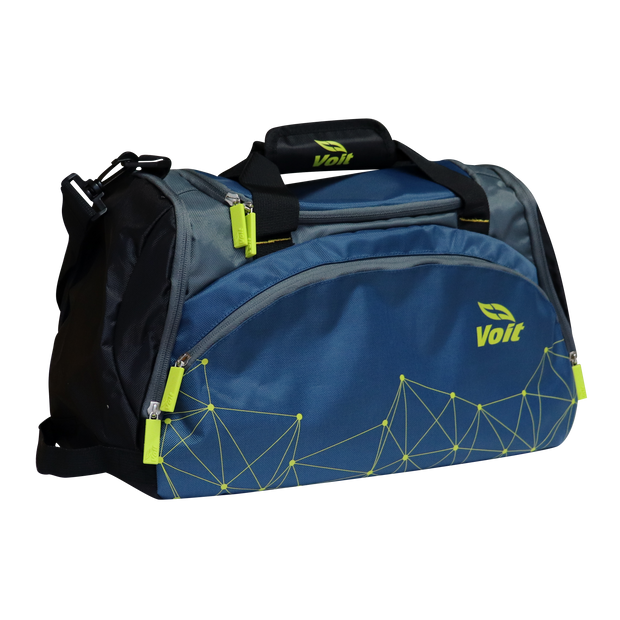Ripstop and Mesh Sports Duffle Bag (Blue)