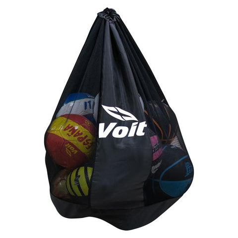 Extra-large, mesh carry bag for 10 soccer balls