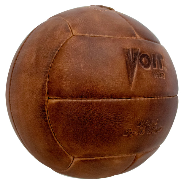 Voit 1922 Legacy Collection, Natural Tanned Leather, Soccer Ball No. 5 (Wholesale)