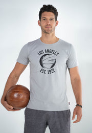 Voit, 1922 Legacy Collection, 100% Cotton Vintage Basketball Print T-Shirt