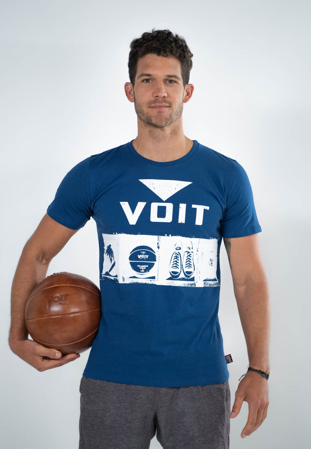 Voit 1922 Legacy Collection, 100% Cotton Vintage Sports Locker Print T-Shirt (Wholesale)