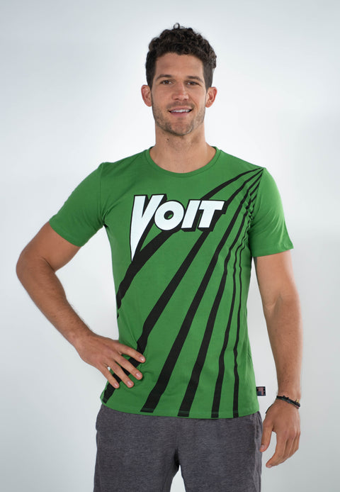 Voit 1922 Legacy Collection, 100% Cotton Vintage Centenial Logo & Rays Print T-Shirt