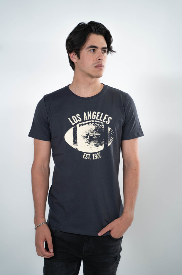 Voit 1922 Legacy Collection, 100% Cotton Vintage Football Print T-Shirt (Wholesale)