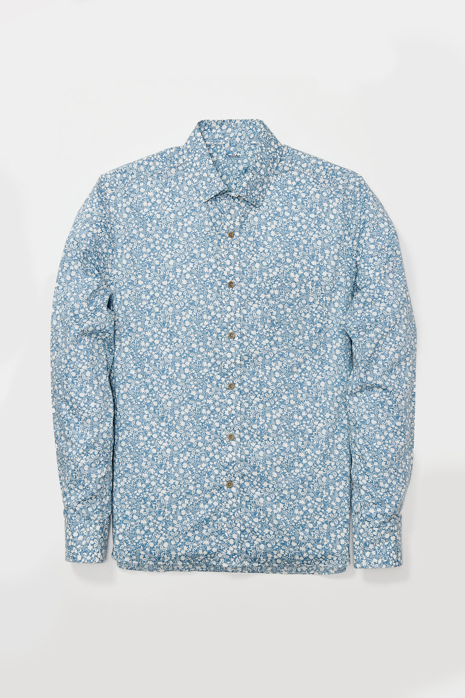 Load image into Gallery viewer, Ogeechee Shirt in Blue Floral Print