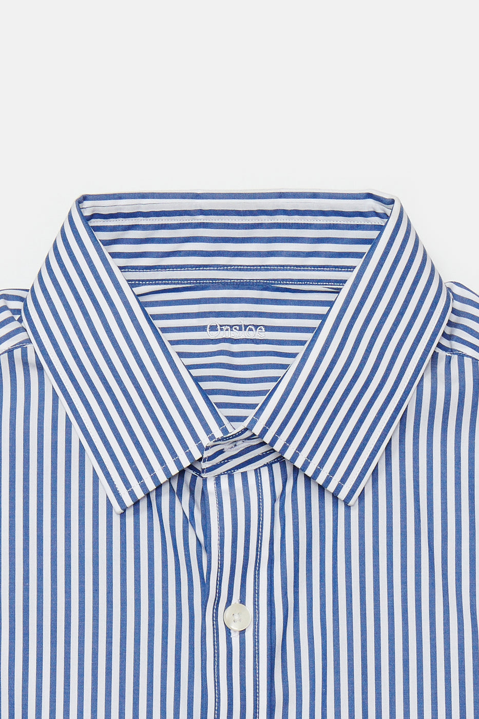 Load image into Gallery viewer, Montgomery Dress Shirt in Blue & White Stripe