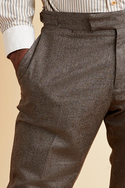 Load image into Gallery viewer, Highland Brown Houndstooth Suit Pant