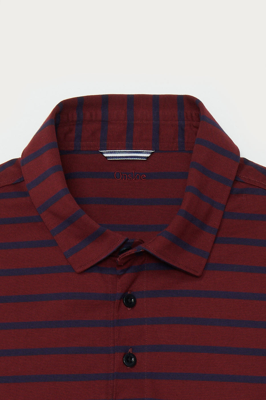 Load image into Gallery viewer, Elkwood Stripe Polo in Maroon & Navy