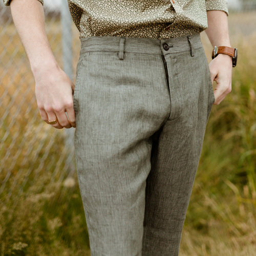 Bradford, Limited Edition Men's Linen Chino in Green