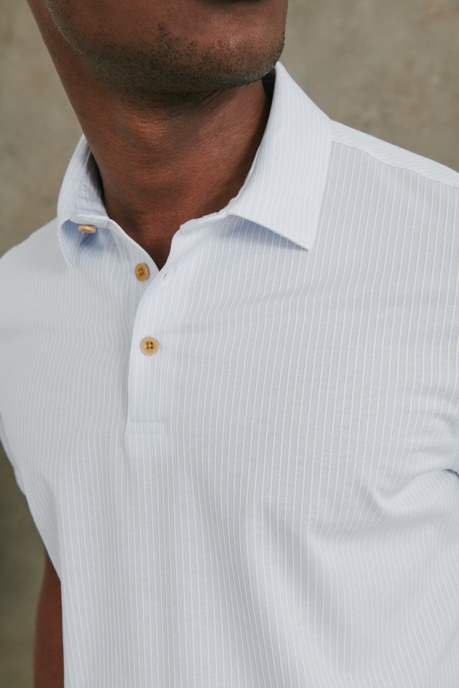 Load image into Gallery viewer, Seabrook Stripe Polo in Blue